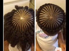 Halo/Crown Braid on Kids Natural Hair - YouTube
