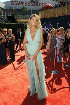 Heidi Klum in a seafoam gown by Alexandre Vauthier at the Emmy Awards 2012