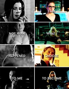 I am not what happened to me. I am what I choose to become. #arrow