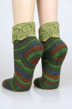 Handgestrickte+Socken+Gr.36/37+von+Wollwerkstatt+auf+DaWanda.com