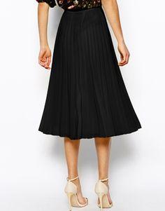 Image 2 ofASOS Pleated Midi Skirt