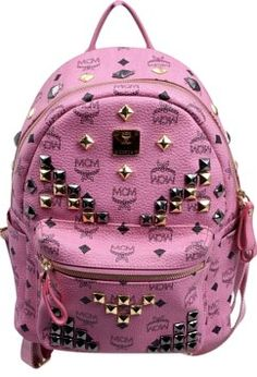 6a4159291 GB1025430 MCM Stark Small Side Stud Coated Canvas Backpack Details:  Instantly recognizable in MCM's signature. Tradesy
