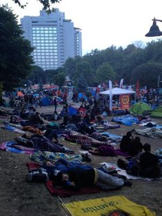 Thursday, 6AM at Gezi Parki. Rain is expected in istanbul today.