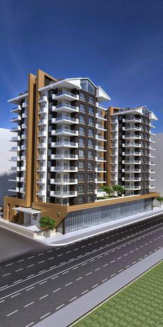 Residential Building Plan, Architecture Building Design, Building Facade, Facade Design, Concept Architecture, Condominium Architecture, Residential Architecture, Condo Design, Modern Buildings