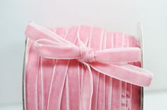 Large Spool of Pink Velvet Ribbon...no one would understand just holding onto this and feeling it lol :)