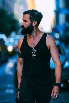 Adam Katz Sinding - full thick black beard and mustache beards bearded man men mens' style
