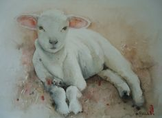 View Marie-Helene Stokkink's Artwork on Saatchi Art. Find art for sale at great prices from artists including Paintings, Photography, Sculpture, and Prints by Top Emerging Artists like Marie-Helene Stokkink. Sheep Paintings, Animal Paintings, Watercolor Animals, Watercolor Paintings, Watercolors, Lamb Tattoo, Sheep Art, Sheep And Lamb, Barnyard Animals