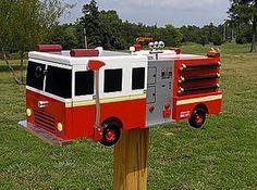 Firetruck Mailbox