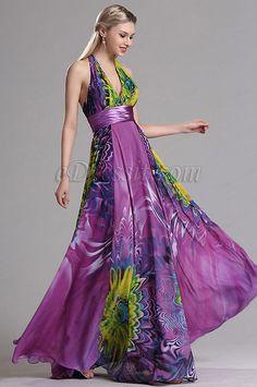 96d007d4b8 eDressit Halter Plunging Floral A Line Prom Evening Dress (X07158012)  Vestidos Boda De Dia