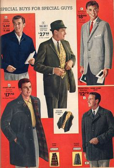 National Bellas Hess menswear fashions from 1963. vintage Mad_Men