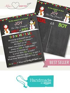 Christmas Snowman Old Wives' Tales Gender Prediction Voting Poster - Digital…  Red, Green, Aqua Chalkboard, Blackboard Voting Poster  Perfect for Holiday, Winter, Christmas, New Year's Themes! Can be changed to accommodate elves, gingerbread men, mr & mrs Clause, reindeer, etc!