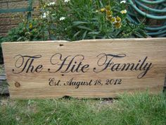Family est date sign