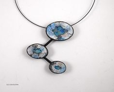 Atoll pendant | Polymer clay and alcohol inks | Alessia Bodini | Flickr
