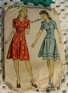 DuBarry 5385 Jacket  Vintage 1940s Sewing by EleanorMeriwether, $8.00