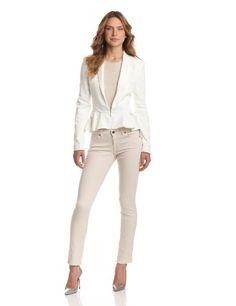 Bardot Women's Peplum Frill Jacket, Ivory, Small