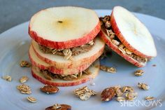 Apple + Almond Butter + Granola = Apple Butter Stacks | 21 Insanely Simple And Delicious Snacks Even Lazy People Can Make