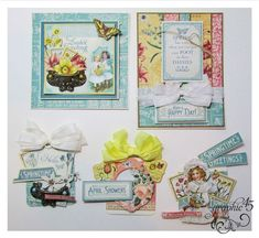 May 2015 G45 Time to Flourish - April Cards & Tags with Project Sheets by Gloria