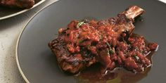 Grilled Aged Rib-Eye with Tomato, Onion and Chipolte Salsa