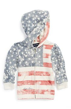 Flag print hoodie for baby girls http://rstyle.me/n/j4fyznyg6