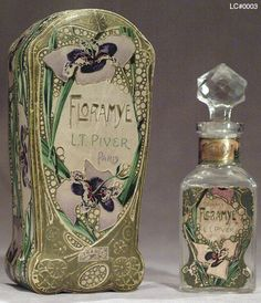 art nouveau violets, the first chemical violet perfume