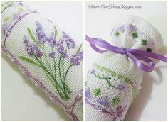 beautiful lavender cross stitch needleroll