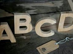 Oak letters by CZD