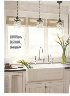 Love the Farm Sink, chandelier, and pretty much everything!!