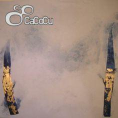 """""""Álamos II"""", Carlos Montes. Acrílico y pan de oro sobre madera.  Dimensiones: 122 x 122  cm."""