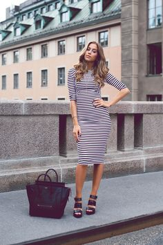 kenza wearing zara dress and shoes and céline bag.