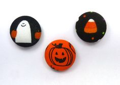 Halloween Magnets Pumpkin Ghost and Candy Corn by TheTinyBee, $8.00