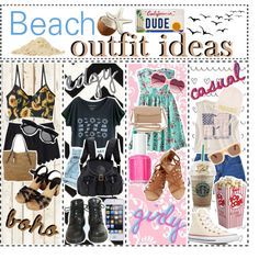 Beach outfit ideas by the-cali-tippers on Polyvore featuring Xhilaration, American Eagle Outfitters, Levi's, Topshop, Converse, Jas M.B., Michael Kors, Kate Spade, River Island and Illesteva