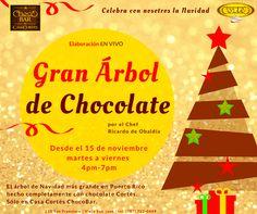 No te pierdas la construcción del árbol de #Chocolate Cortés en el ChocoBar en el #ViejoSanJuan, #PuertoRico.