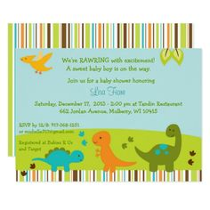 439 best dinosaur baby shower invitations images on pinterest in baby dinosaur baby shower invitation filmwisefo