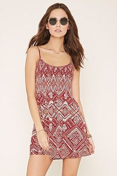 Purple,dark brown FOREVER21  casual dress  for woman dress,tribal print,cami straps,smocked #vestidoinformal #camisole #túnica #shift #pleat #pleated #drape #t-shape #daisy #foldedshoulder #summer #loosefit #tunictop #swing #day #offtheshoulder #smock #print #printed #tea #babydolldress #polodress #pansybow #sundress #offshoulder
