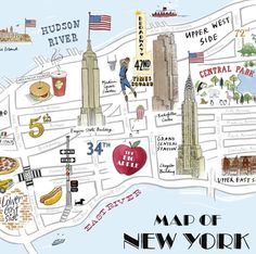 Image discovered by Empire State. Find images and videos about city, new york and nyc on We Heart It - the app to get lost in what you love. New York City Map, City Maps, Ny Map, Empire State Building, Carte New York, Plan Ville, Long Week-end, Voyage New York, World Maps