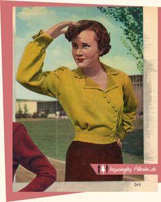 The Vintage Pattern Files: Free 1950s Knitting Pattern - Strickjacke mit…
