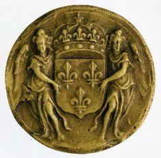 Moulage du contre-sceau du grand sceau de Louis XIV, roi de France. 1 - Archives…