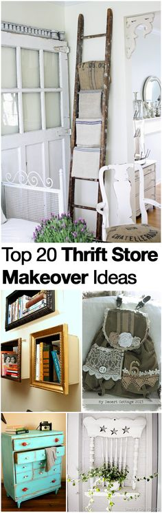 Top 20 Thrift Store Makeovers and Projects. Take a look at our GREAT NEW THRIFT STORE APP at http://xthrift.com