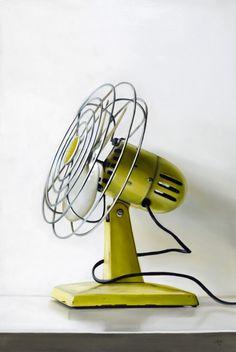 yellow vintage fan