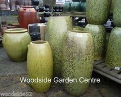 Extra Large Glazed Garden Toggle Pot Planter Pots Swamp Green Essex