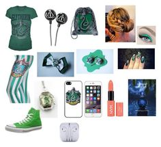 """Slytherin school outfit"" by olivia-huffer on Polyvore"