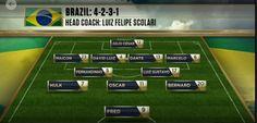 #BRA #FIFA Brazil Starting Line Up