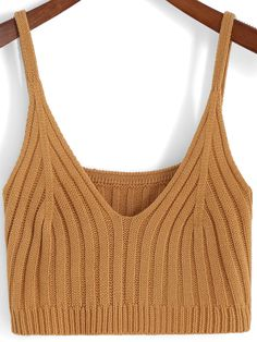 To find out about the Khaki Spaghetti Strap Knit Cami Top at SHEIN, part of our latest Tank Tops & Camis ready to shop online today! Shibori, Knitted Tank Top, Knit Tops, Spaghetti Strap Top, Summer Tank Tops, Color Khaki, White V Necks, Cami Tops, Aesthetic Fashion