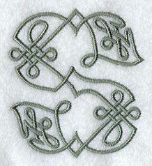 Celtic Knotwork Letter S - 3 Inch
