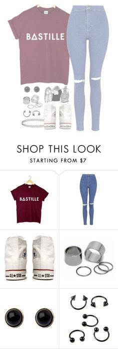"""//Flaws//"" by alex-bows ❤ liked on Polyvore featuring Topshop, Converse, Pieces and Adele Marie"