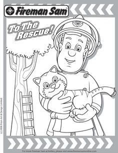 fireman coloring sheet for preschool | Stay Connected : Visit the Fireman Sam Website or Bob the Builder ...