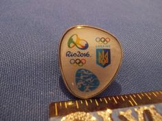 2016 Rio Olympic NOC Pin Ukraine Team Pentathlon Dated