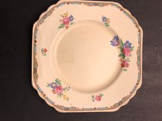 Antique Wedgwood & Co Square Dinner Plate Early Vintage China, Wedgwood, Dinner Plates, Ontario, Create Yourself, Etsy Seller, Base, Antiques, Tableware
