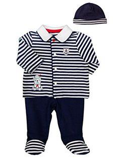 "Baby Boy Sailor Pup 3Pc Take Me Home Set by Little Me - Blue - 6 Mths / 12-16 Lbs / 24-27"" Little Me"