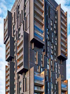 Röben Klinker, Bricks | Brick-Design® Wohntürme Breda (NL) | Klinker: FARO schwarz-nuanciert